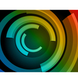 Abstract circle rings backgound vector image
