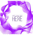 abstract line template summer lilac background vector image