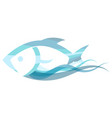 fish on a wave vector image