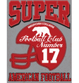 Football sport typography t-shirt graphics vector image