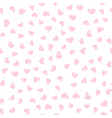 Gentle seamless pattern with pink hearts vector image