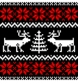 Nordic pattern on black vector image