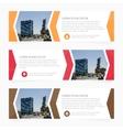 Set of business design banner template Web banner vector image