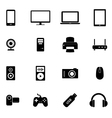 Set of flat icons- electronic devices PC hardware vector image