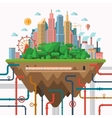 Big city concept in flat style vector image