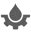 Water Service Grainy Texture Icon vector image