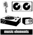 music elements vector image vector image