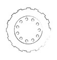 tractor tire isolated icon vector image