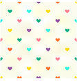 seamless heart background texture vector image vector image