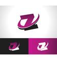 Swoosh Alphabet Icon Z vector image vector image