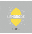 Hand drawn lemon silhouette with lemonade vector image
