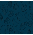 Seashells blue seamless background vector image