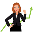 Business woman in a suit isolated on a white backg vector image