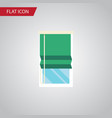 isolated glazing flat icon balcony element vector image