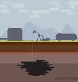 Nodding donkey oil production vector image