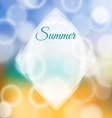 Summer background with bokeh vector image