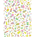 seamless background of doodle gift box vector image