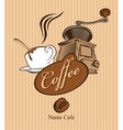 Coffee mill vector image