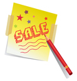 Pencil and notepad vector image