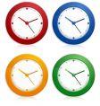 color wall clocks vector image vector image