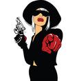 Femme fatal background vector image vector image