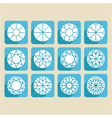 set of cutting samples diamonds gemstones vector image