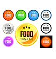 Taste and Eco Food vector image