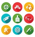 Shooting gallery Icons Set vector image