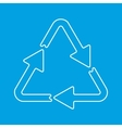 Recycle thin line sign vector image