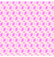 pink background of cubes vector image vector image