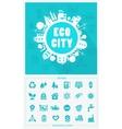 Cartoon Eco City concept vector image
