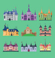 cartoon fairy tale castle key-stone palace vector image