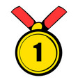 champion gold medal icon icon cartoon vector image