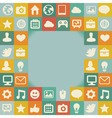frame with social media icons - vector image
