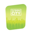 Green Eco City Background Design vector image