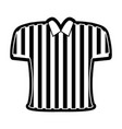 referee shirt icon vector image