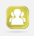 square icon silhouette of a men social media vector image