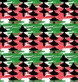 Artistic color brushed red green texture with vector image