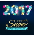 New Year Card 2017 vector image
