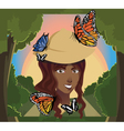 butterfly girl vector image vector image