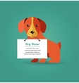 Dog with text sign vector image
