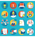 Set of management human resources vector image vector image