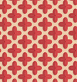 Retro fold red four pedal flowers vector image vector image
