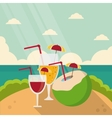 Vacations and summer design vector image vector image