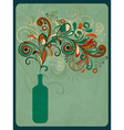 retro concept composition with stylized bottle vector image vector image