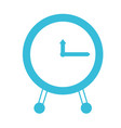 blue color silhouette of clock icon vector image