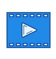 cinema line icon vector image
