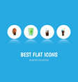 flat icon soda set of fizzy drink soda cup and vector image