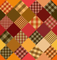 Seamless background of patchworks vector image