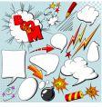 Set of comic elements vector image